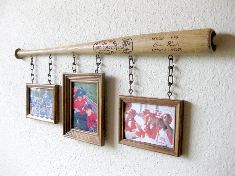 Louisville Slugger Baseball Bat Photo Frame Wall Art