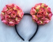 Camilla Floral Mouse Ears (Reddish Orange)