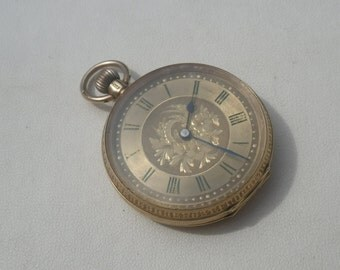 Antique Vintage 15ct Yellow Gold Ladies Fob Pocket Watch