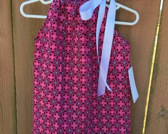 SALE 12 months Hot Pink Daisy Pillow Dress