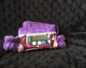 Horsing Around! Insulin Pump Pouch with a Vinyl Screen and Minky Belt