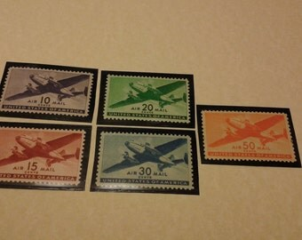 1940-1941 Airmail postage stamps