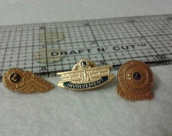 Vintage Lions Club pins