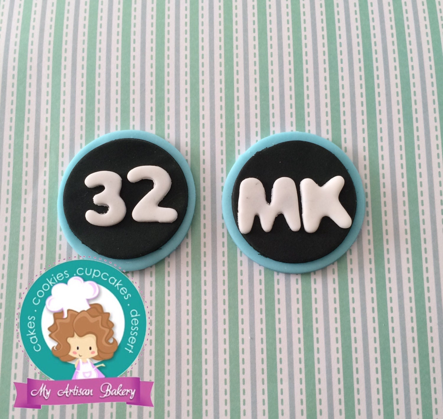 Number fondant cupcake toppers