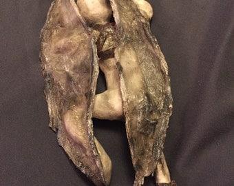 Fallen Angel mixed media sculpture