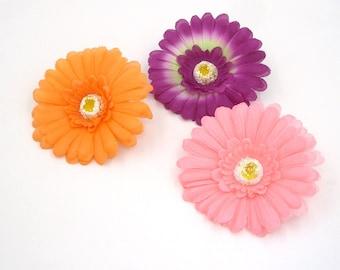 2 Pcs Flower Magnets,Daisy Fridge Magnet,Wedding Favor,Refrigerator Magnet,Housewarming Gift decor,Door Magnet,Purple,Pink,Orange,Red,Green