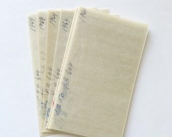 15 Vintage Glassine Envelopes - Paper Ephemera, Scrapbooking, Journaling