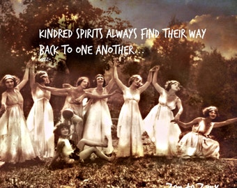 KINDRED SPRITIS... Vintage photo, Choose size below