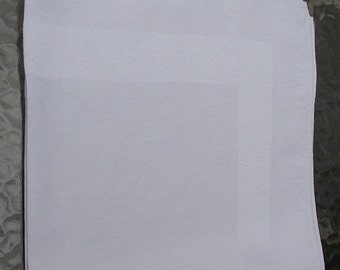 "SALE Linen Napkins Broad Shiny Border Measuring 18"" square"