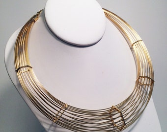 Linear Cage choker necklace