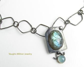 Faceted Labradorite Pendant ~ Artisan