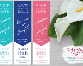 Bookmark Save the date, wedding bookmark, bookmark, digital bookmark, printable bookmark, save the date DIY, save the date card