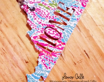 Lilly Pulitzer Inspired Home Keychain