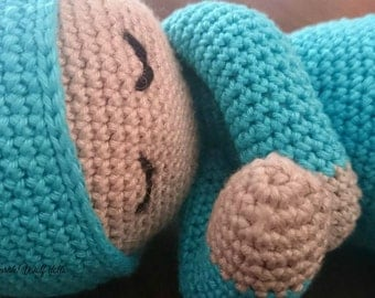 Handmade crochet baby sleep dolls