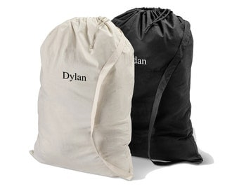 Personalized Laundry Bag - Monogrammed Laundry Bag - Cotton Laundry Bag - Laundry Bag - Gifts for Him - Graduation Gifts - GC1438