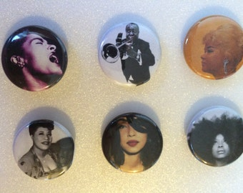 Music Legend Pins (choose your favorite)