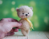 ooak 4 inches miniature Teddy bear Blythe friend, Made to Order,  handmade pocket bear artist toy