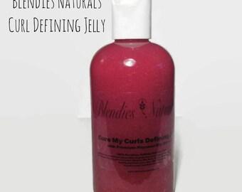 Cure My Curls Defining Jelly, Premium Flaxseed Slip Mixture 8oz jar