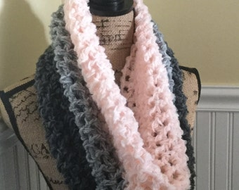 Tri-color, Alpaca, Mohair, and Virgin Wool Cowl