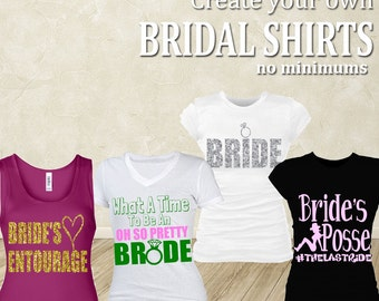 Custom Bridal Shirt (glitter)
