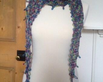 Pretty Crochet Scarf - Merino Yarn