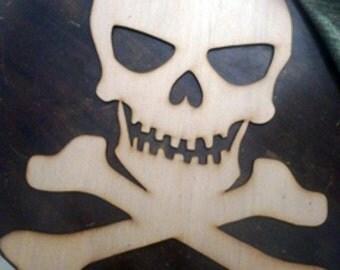 skull/ pirate skull cutout/ halloween/ MEDIUM