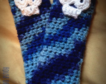 Skull arm warmers, Toddler arm warmers, Fingerless gloves, Toddler fingerless gloves, Skull