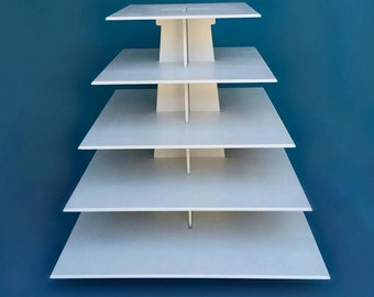 5 tier cupcake stand XL, square shape