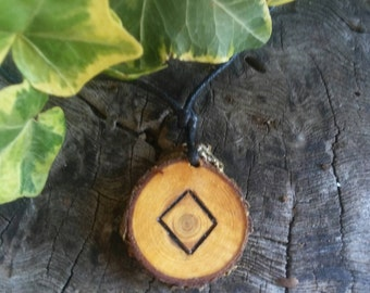 Rune Necklace - Rune Pendant -  Ingwaz - Talisman Necklace - Protection Necklace - Rune Jewelry