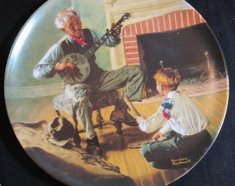 """Norman Rockwell Plates The Banjo Player, """"The Toymaker"""" and more Knowles Collection Vintage 1980s CHOICE"""