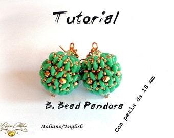 Tutorial  B.Bead Pandora con perla da 18 o 15mm  ( Tutorial Grafico in italiano e in inglese)