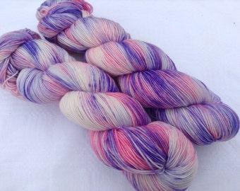 4ply sock weight hand dyed yarn Fairies