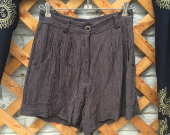 High Rise Textured Shorts