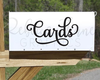 Cards wedding mailbox decal