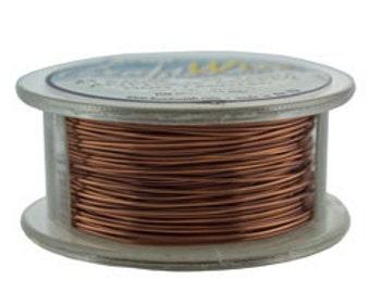 Craft Wire Tarnish Resistant Antique Copper Round Wire 24ga 20yd (WR6724AC)