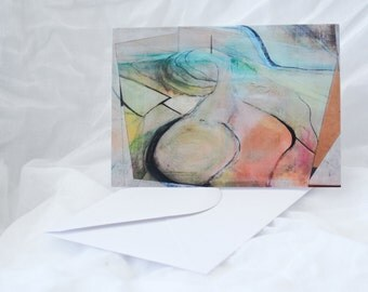 Blank Greetings Card / Notelette. Pen Dinas 3