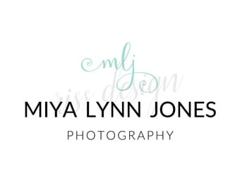 Premade Logo for Small Business - Premade Etsy Business Logo / You choose colors / Calligraphy logo for your business / Photography Logo