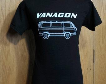 1980 - 1985 Volkswagen Vanagon Logo T Shirt - VW Bus Transporter Microbus Campervan