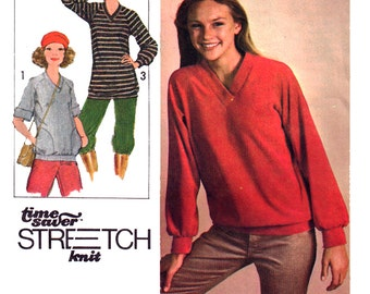 Simplicity Sewing Pattern 8618 Misses' Pullover Top in two lengths  Size:  K  8-10-12  Uncut