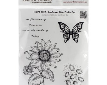 Heartfelt Creations Cling Rubber Stamp Set ~ Sunflower Stem, HCPC3627