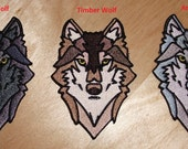 Embroidered Wolf Patch 3.5 Inches