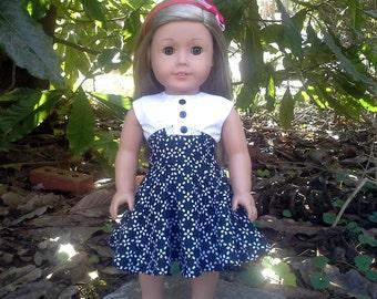 american girl doll black and white dress