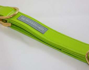 Solid Dog Collar in Lime Green