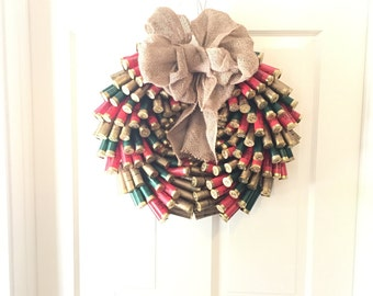 Christmas Shotgun Shell Wreath- ORIGINAL DESIGN