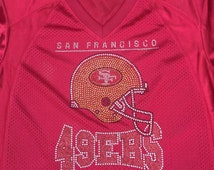 49ers fan n jersey football rhinestone jersey football Jersey