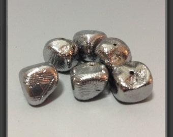 Muonionalusta Meteorite beads- 6 beads