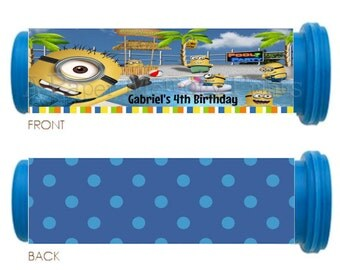 Minions Pool Party Mini M&M Tube Wrappers DIY Printable
