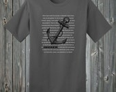 Anchored Soul Soft Ring Spun Cotton Christian Unisex, Men, Women Fit T Shirt - To Live Like Jesus Apparel