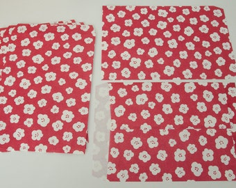 """Red Cherry Blossom Paper Favor Gift Bag 8 1/2"""" x 6"""""""