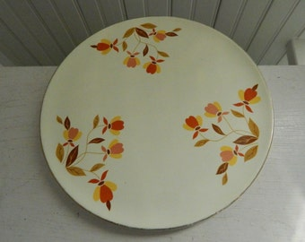 Jewel T Hall Autumn Leaf Cake Plate Serving Platter - Superior Hall Quality Dinnerware - Cake Decorating Plate - Gift for Baker
